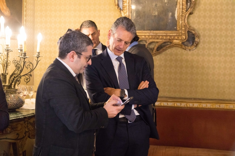 Marco Tornatore (Vicepresidente Acquanetwork) w Carlo Amato (Dir. Mangano Palace)