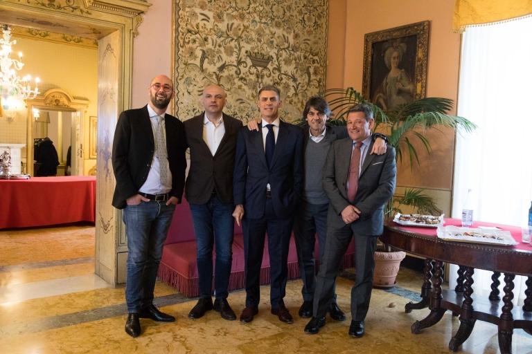 FR w Diego Fidanza (General Manager Polimpianti) _ Flavio Marelli (AD Anthea) _ Luca Salvatori (Dir. Commerciale Aqquatix) e Davide Martinello (Manager Anthea)